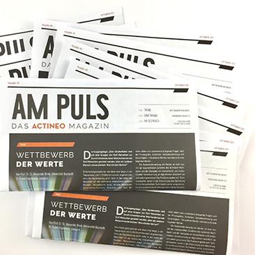 Die neue Ausgabe des Actineo-Kundenmagazins AM PULS
