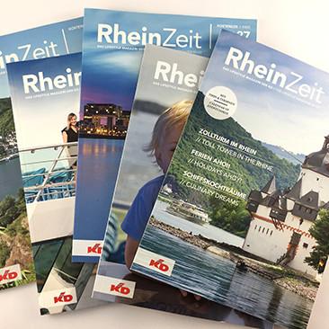 Runderneuert: das Bordmagazin der Köln-Düsseldorfer heißt jetzt RheinZeit